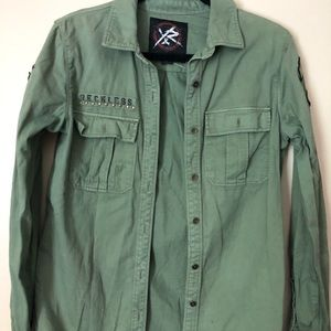 ARMY GREEN YOUNG AND RESTLESS BUTTON UP / JACKET